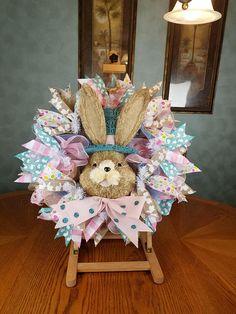 Easter Wreath Bunny Wreath Rabbit Wreath Whimsical Wreath