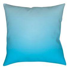 Ombre Toss Pillow   Sky Blue