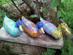 My grandkids and I painted grandpa's old duck decoys!  We called them them  the golden bills.