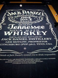 Charming Jack Daniels Pool Table By Nathan Cooper, Via Flickr