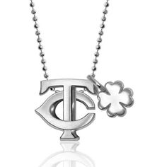 Minnesota Twins Alex Woo Little MLB with Mini Clover Addition Sterling Silver Necklace - $235.99