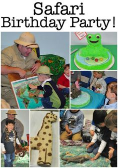 How to Throw A Safari Birthday Party! - - When planning kids parties, hire someone to come to your home and provide the entertainment! We have done this with our Safari Birthday Party! Here's how to throw one of your own! Frozen Birthday Party, Birthday Party At Home, Birthday Party Games For Kids, Boy Party Favors, Birthday Activities, Birthday Themes For Boys, Safari Birthday Party, Kids Party Themes, Birthday Party Decorations