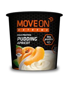 Pudding wysokobiałkowy morelowy, pszenno-owsiany 100g. | Pudding with whey protein - apricot. #moveon #moveonpl #moveonsport #sport #healthy #diet #sport #nutrition #apricot #fruits #owoce #jedzenie #athlete #active #protein #fiber #ideas #meal