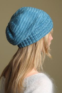Beautiful Slouch Hat pattern from Shibui.