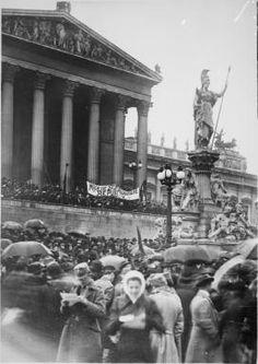 Ausrufung der Republik Deutsch-Österreich Old Pictures, Vienna, Ww2, Austria, Past, Old Things, Artsy, Gardens, History
