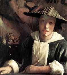 Young Girl with a Flute by Johannes Vermeer, 1666-1667
