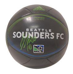 Nicolas Lodeiro Autographed Adidas MLS Seattle Sounders FC Logo Soccer Ball, Proof Photo