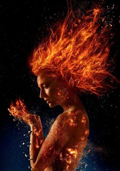 Fiery new photos from Entertainment Weekly give fans their first look at the upcoming X-Men Dark Phoenix film. The movie mutants will face down the scorching Phoenix Force in this adaptation of one of the most classic X-Men storylines. Dark Phoenix, Jean Grey Phoenix, Phoenix Xmen, Phoenix Force, Phoenix Rising, James Mcavoy, Michael Fassbender, Nightwing, Batwoman