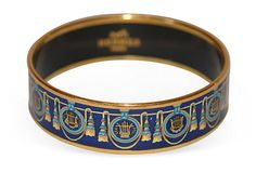 Hermès Enamel Bracelet with tassel motif