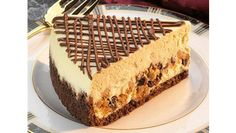 Peanut Butter and Milk Chocolate Chip Layered Cheesecake