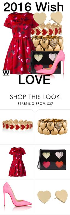 """""""My Wish For 2016"""" by wearwhatyouwatch ❤ liked on Polyvore featuring Alison Lou, Cartier, Christopher Kane, Christian Louboutin, Kate Spade, women's clothing, women's fashion, women, female and woman"""