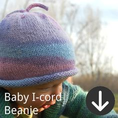 free Baby I-Cord Beanie knitting pattern