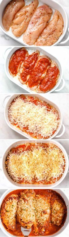 Mozzarella Parmesan Chicken Casserole - Crisp and cheesy, this 30 minute keto chicken parmesan casserole is a dream come true!