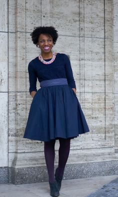 Economy of Style   St. Louis Fashion and Budget Style Blog: Wear Now: Spring's Staple Full Skirt #eshakti