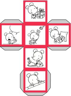 Quoi - Dé à histoires - Ludo Speech Language Therapy, Speech And Language, Story Cubes, Ludo, Hidden Pictures, English Book, Fun Crafts For Kids, Little Pigs, Disney Crafts