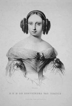Afb. 4 Prinses Sophie in 1838, lithografie door M. Mourot (1803-1847), (gr.B 1194 Den Haag). Uit: Dianne Hamer, Sophie. Koningin der Nederlanden.
