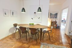 #dinning table and chair by George Mulhauser #normanchair