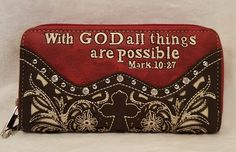 *Zipper closure*Wristlet strap zipper pouch inside*Credit-card slots x Mark 10 27, Southern Style, Zipper Pouch, Bag Accessories, Bible Verses, Zip Around Wallet, Handbags, Boutique, Wallets