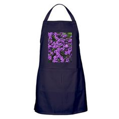 Purple Flowers Apron (dark) on CafePress.com