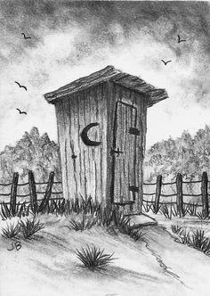 pencil drawings of outhouses | Out_in_the_Country.JPG