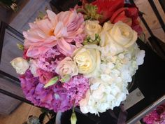Gorgeous floral bouquet from Avant Garden - what an excellent gift. #flowers #bouquet #pink
