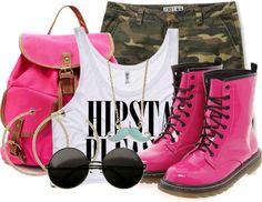 """""""- All PINK Everythingg : )"""" by aspire-individuality ❤ liked on Polyvore"""