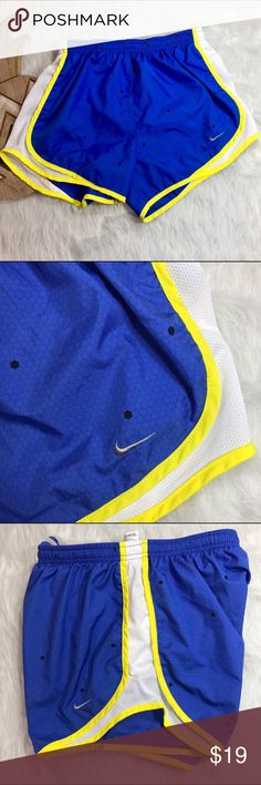 Nike DRI-FIT Honeycomb Running Shorts Nike DRI-FIT Honeycomb Running Shorts. Perfect for workouts or just cute athleisure comfort! These have sweat-wicking fabric and mesh panels for breath ability. You will stay dry and cool during those workouts or warm days. Absolutely no flaws.   ❌No Trades❌ 📦Fast Shipping📦 💬Open to Offers💬 🛍Willing to Bundle🛍 Nike Shorts