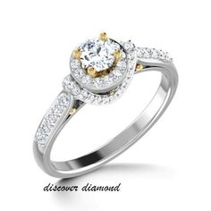 1.50 Ct Diamond Solid 14k White Gold Solitaire Engagement Wedding Ring Certified #discoverdiamonds #Engagement