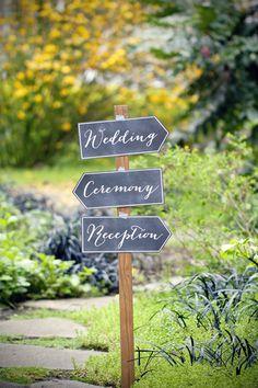 DIY Chalkboard Wedding Arrows - Free Printable Download - Reception Signs