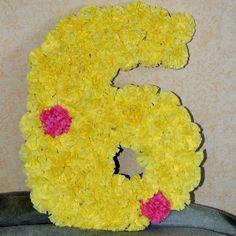 Цифра из салфеток своими руками на день рождения дочке