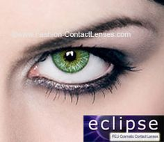 Eclipse Color Green Contact Lenses (PEU)