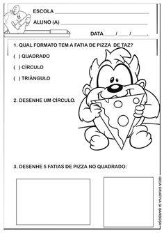 Atividade Matemática Infantil Formas Geométricas