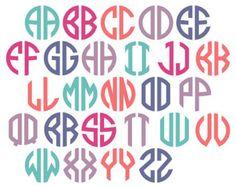 Vine Interlocking Monogram Alphabet Ai EPS SVG DXF by Monogramix