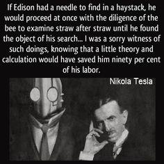 Quotes From Nikola Tesla | Nikola Tesla Quotes About Edison Four quotes and a half pint