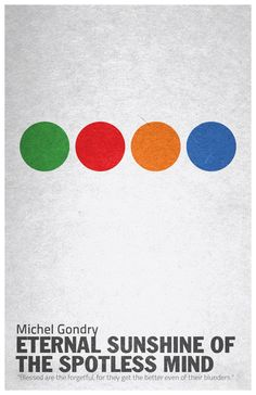 minimalist movie poster: eternal sunshine of the spotless mind - sergio camalich