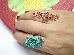 Anillo de alambre forma Griega / Greek inspired Wire Ring