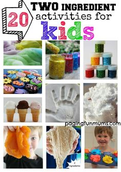 20 TWO ingredient activities for Kids! The ultimate collection of recipes that won't cost you the earth!
