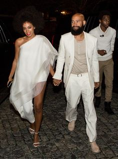 Solange Knowles and Alan Ferguson at their wedding in New Orleans.