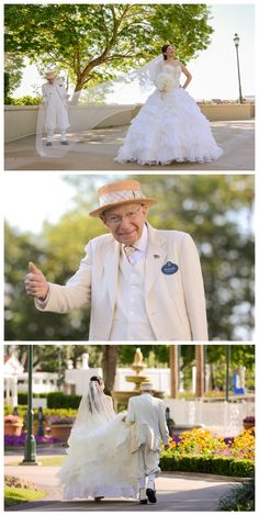 Have you met Richard? He's a legacy at Disney's Grand Floridian and has been helping brides on their special day for more than 22 years. Photo: Brittany, Disney Fine Art Photography