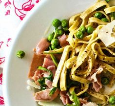 #graceinfood  spring pasta with peas & prosciutto  Check out this $150 Cuisinart Cookware set for FREE