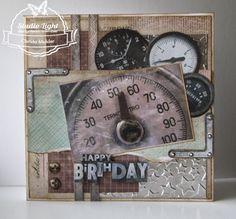 Happy Birthday gemaakt door Christa Mulder Man Birthday, Happy Birthday, Cards For Men, Studio Lighting, Masculine Cards, Creative Words, Tim Holtz, I Am Happy, Card Making