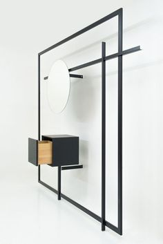 Wardrobe - Collection Gentle Objects by Martin Mestmacher You may also like: 23 Uberstylish Modular Wall-Mounted Shelving Systems Steel Furniture, French Furniture, Modern Furniture, Furniture Design, Furniture Layout, Garderobe Design, Multipurpose Furniture, Modular Walls, Interior Decorating