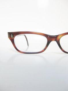 5d514e3b2dd Vintage 1950s Horn Rim Glasses - Cat Eye Glasses - Light Brown Amber Cateye  Eyeglasses - New Old Stock Optical Frames