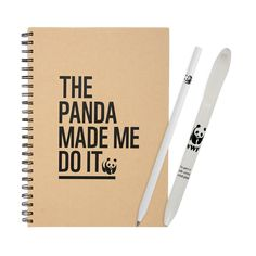 WWF The Panda Made Me Do It pen, pencil and notebook set - now just £6.29! Shop now: http://shop.wwf.org.uk