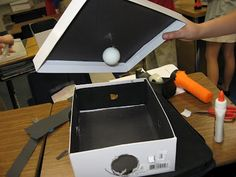 Moon phases viewing box. See HOW the moon phases work