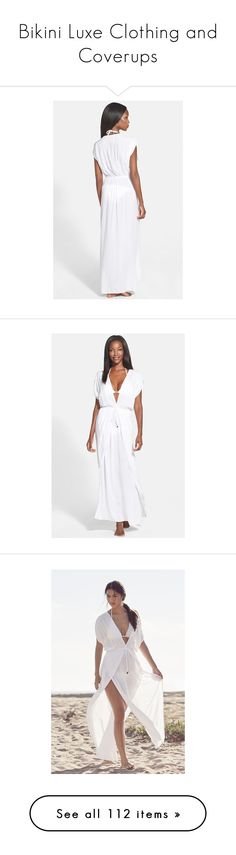 """""""Bikini Luxe Clothing and Coverups"""" by bikiniluxe ❤ liked on Polyvore featuring tops, tunics, white kaftan, beach caftan, beach tunic, white tunic, beach kaftan, maxi kaftan, white kaftan tunic and white beach kaftan"""