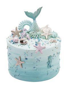 Mermaid cake under the sea aqua blue Little Mermaid Cakes, Mermaid Birthday Cakes, Peggy Porschen Cakes, Birthday Cake With Photo, Cake Show, Sea Cakes, Birthday Cake Decorating, Novelty Cakes, Wedding Cake Designs