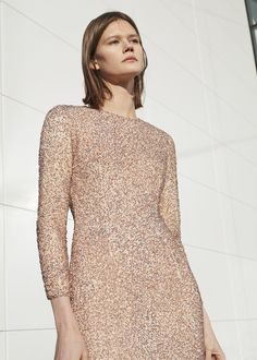 Side slit sequined gown | MANGO