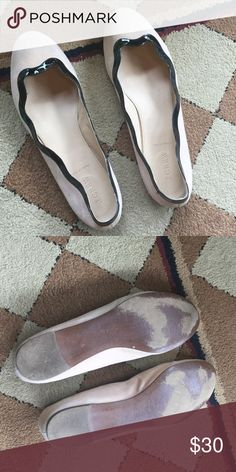 J. Crew suede leather flats J.Crew leather flats with patent leather trim J. Crew Shoes Flats & Loafers