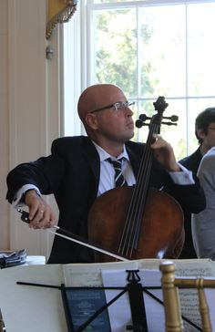 Robert deMaine, Principal Cello of the Los Angeles Philharmonic, at Millford in September.